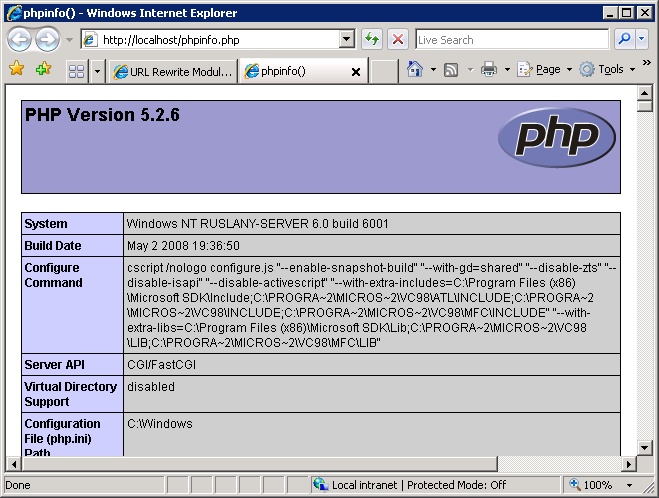 using-fastcgi-to-host-php-applications-on-iis-246-phpinfo